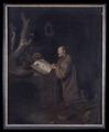 Målning, bedjande eremit - Hallwylska museet - 4624.tif