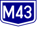 M43 autopalya(Hu) otszogletu kek tabla.PNG