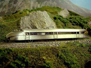 Schienenzeppelin - A model of the Schienenzeppelin in Z scale from Märklin company