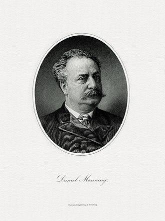 Daniel Manning - Image: MANNING, Daniel Treasury (BEP engraved portrait)