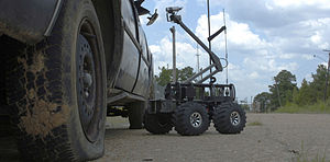 MARCbot - MARCbot extends its camera to search for suspected improvised explosive devices