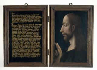 diptyque avec la lettre de Lentulus et le portrait du Christ
