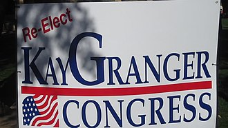 Kay Granger - Kay Granger campaign sign in the Fort Worth Stockyards