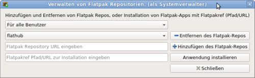 MX Paket-Installer Flatpaks Fortgeschritten
