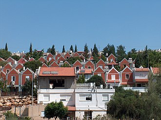 Human rights in Israel - A neighbourhood in the settlement Ariel