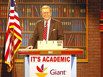 WRC-TV - The late Mac McGarry was the original host of It's Academic until June 2011.  (Photo is from c. 2009.)