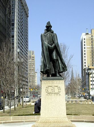 Alexander Macomb (general) - Macomb's statue in Detroit by Adolph Alexander Weinman.
