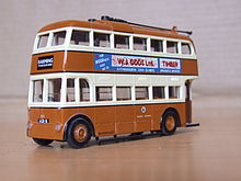 Maidstone corporation Trolley bus model.jpg