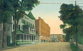 Lisbon, New Hampshire - Main Street c. 1910
