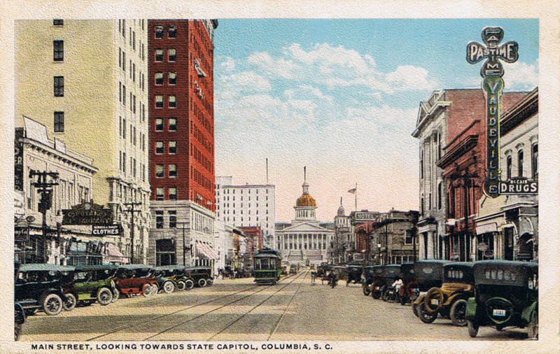 File:Main Street looking towards State Capitol, Columbia, SC 1910s.png