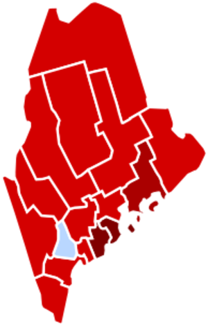 United States presidential election in Maine, 1972 - Image: Maine 1972 counties