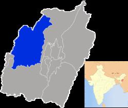 Vị trí của Huyện Tamenglong