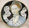 Maiolica di casteldurante o urbino, camilla bella, 1550-60, 2.jpg