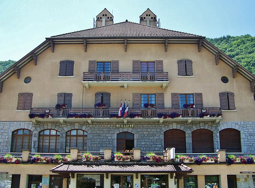 Commune of Sevrier city hall, near Annecy in Haute-Savoie, France.