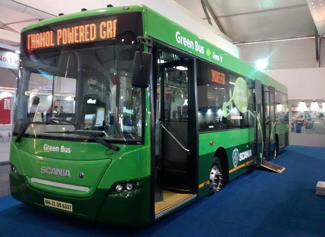 Nagpur Mahanagar Parivahan Limited [NMPL]'s Scania biofuel bus.