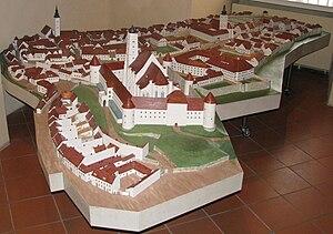 Kaptol manors in Zagreb - Model of the old Kaptol, Zagreb City Museum