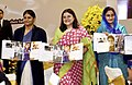 Maneka Sanjay Gandhi along with the Union Minister for Food Processing Industries, Smt. Harsimrat Kaur Badal and the Minister of State for Health & Family Welfare.jpg