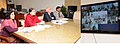 Maneka Sanjay Gandhi holding a video conference with the DM of Maharashtra for consultations on Beti Bachao Beti Padhao, in New Delhi. The Secretary, Ministry of Women and Child Development, Shri V.S. Oberoi is also seen.jpg