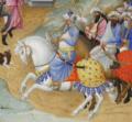 Manuel II Palaiologos as Melchior, Très Riches Heures du duc de Berry, fol. 51v.png