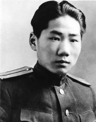 Mao Anying - Mao Anying in a Soviet officer's uniform