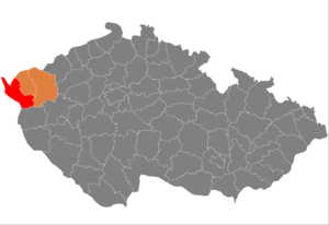District location in the کارلووی واری بؤلگه‌سی‌ within the Czech Republic