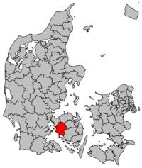 Location of Assens municipality in Denmark
