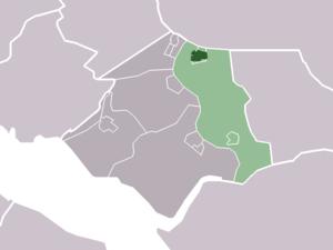 Geervliet - Image: Map NL Bernisse Geervliet