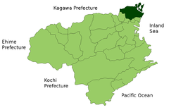 Location of Naruto in  Tokushima