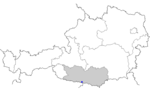 Map of Austria, position of Hohenthurn highlighted