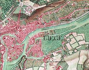 Ferraris map - Map of Liège