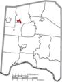 Map of Adams County Ohio Highlighting Seaman Village.png