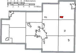 Location of Beaverdam in Allen County