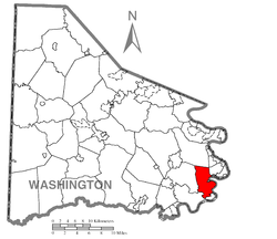 Location of California in Washington County