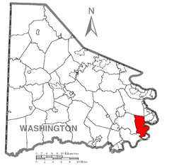 Map of California, Washington County, Pennsylvania Highlighted.png