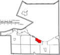 Map of Erie County Ohio Highlighting Huron City.png