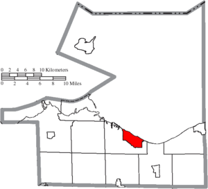 Huron, Ohio - Image: Map of Erie County Ohio Highlighting Huron City