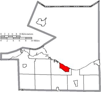 Huron, Ohio - Image: Map of Erie County Ohio Highlighting Huron City