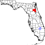A state map highlighting Putnam County in the corner part of the state. It is medium in size.