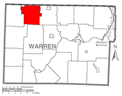 Map of Freehold Township, Warren County, Pennsylvania Highlighted.png