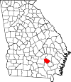 Map of Georgia highlighting Bacon County.svg