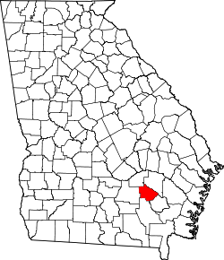map of Georgia highlighting Bacon County