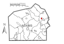 Map of Hampton, Adams County, Pennsylvania Highlighted.png
