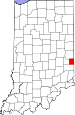 Map of Indiana highlighting Union County.svg