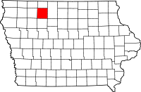 Map of Iowa highlighting Palo Alto County.svg