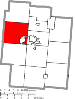 Location of Liberty Township in Jackson County