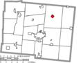 Map of Logan County Ohio Highlighting Rushsylvania Village.png