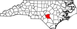 Map of North Carolina highlighting Cumberland County.svg