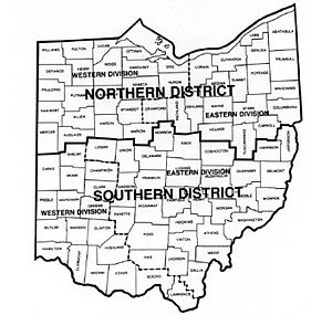 United States District Court for the Northern District of Ohio - Image: Map of Ohio Federal Court Districts