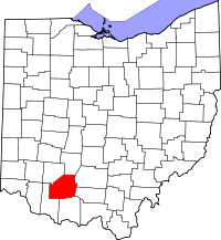 Map of Ohio highlighting Highland County.svg