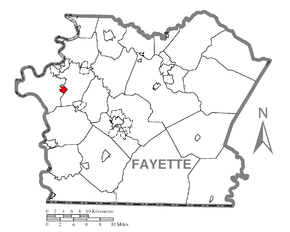 Map of Republic, Fayette County, Pennsylvania Highlighted.png